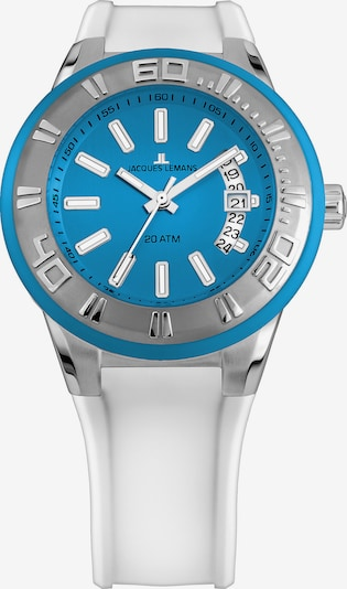 Jacques Lemans Uhr 'Miami' in blau / silber / weiß, Produktansicht