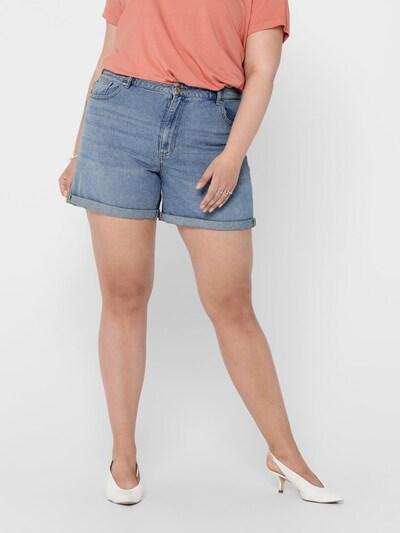ONLY Carmakoma Jeansshorts 'CARHINE REG SHORTS' in blau, Modelansicht