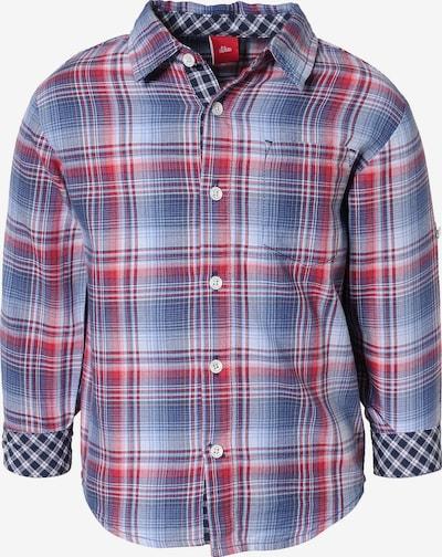 s.Oliver Junior Hemd langarm - Langarmhemden - unisex in blau / rot, Produktansicht