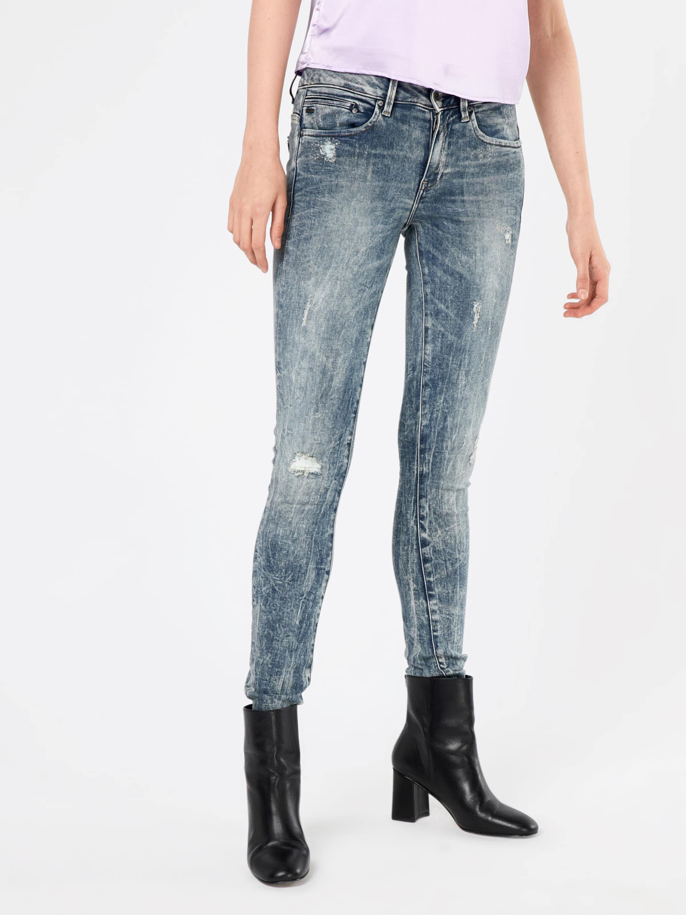 Denim Skinny Raw Zip' Jeans Blue star 'midge In G 4Rj3L5A