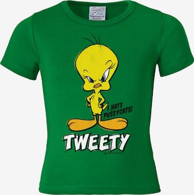 LOGOSHIRT T-Shirt 'Tweety - I Hate Pussycats Vogel' in gelb / grün, Produktansicht
