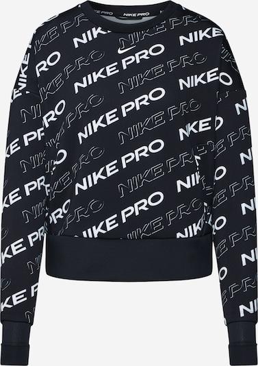 NIKE Sportief sweatshirt in de kleur Zwart / Wit, Productweergave