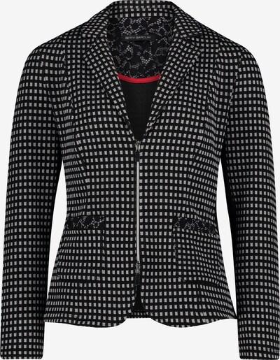 Betty Barclay Shirtblazer mit Reißverschluss in grau / schwarz, Produktansicht