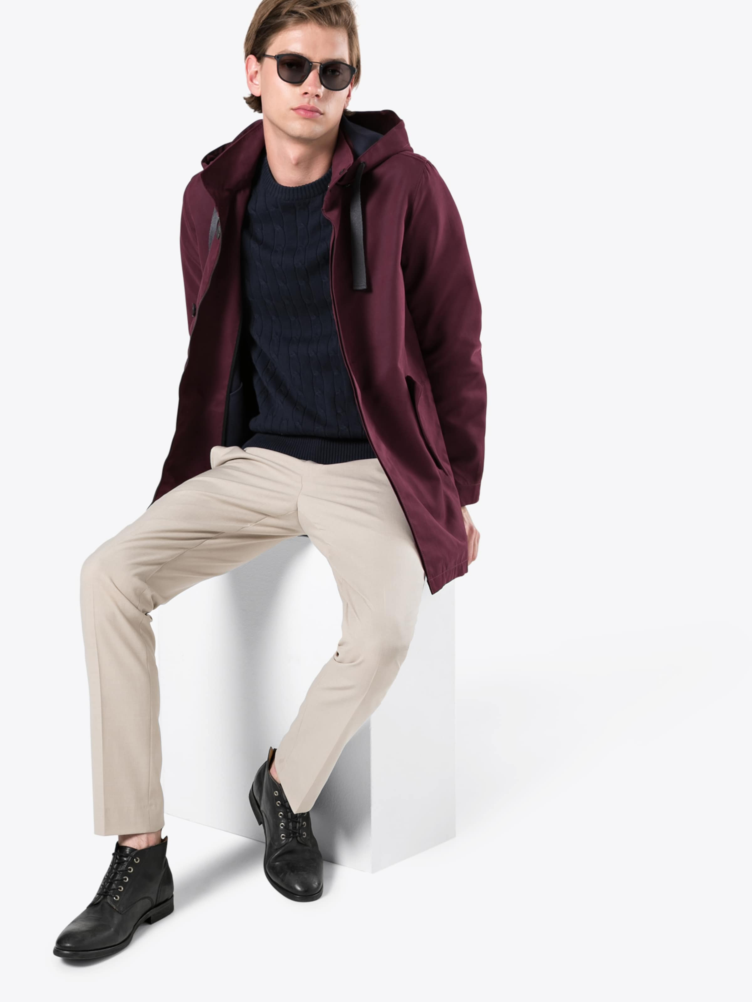 Nowadays Übergangsjacke Parka' Fishtail 'bonded Bordeaux In IYED9WH2