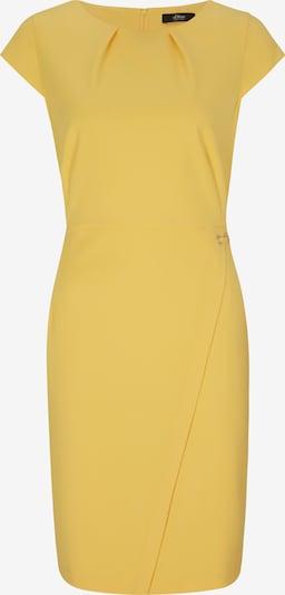 s.Oliver BLACK LABEL Kleid in gelb, Produktansicht