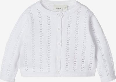 NAME IT Strickjacke 'HESINE' in weiß, Produktansicht