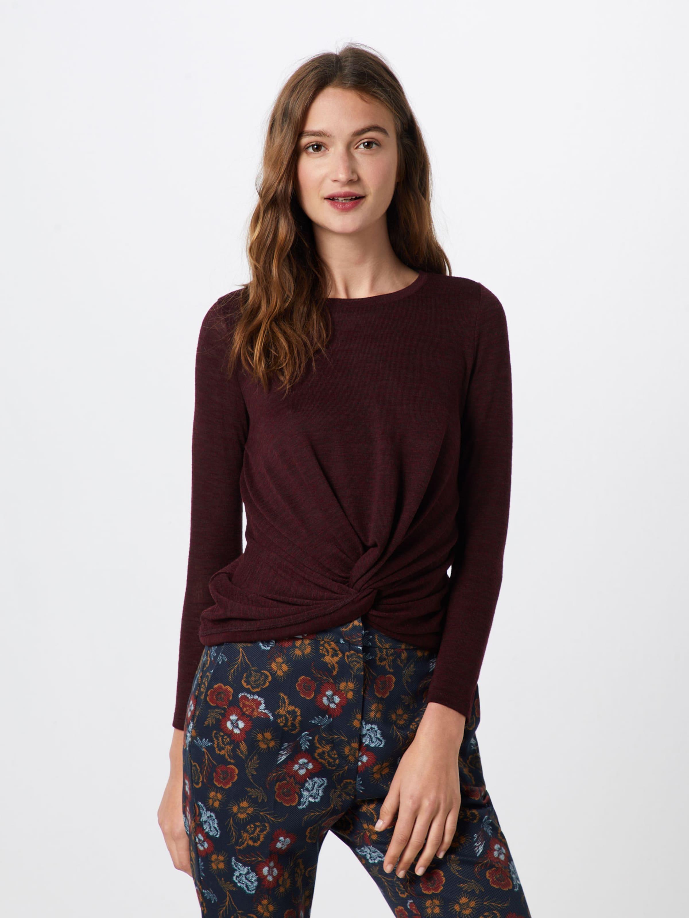 In Burgunder New Shirt 'twist Front Look Top' qUMVpzjGSL