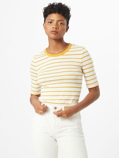 ESPRIT Shirt in gelb / weiß: Frontalansicht