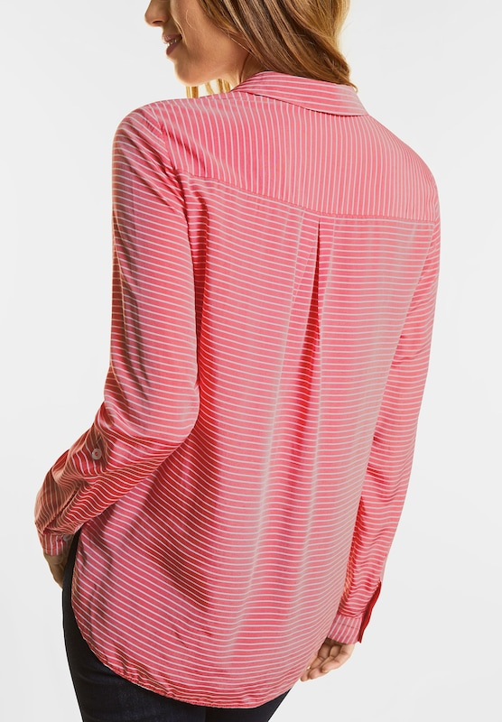 Street One Stripe Blouse With Bindesaum