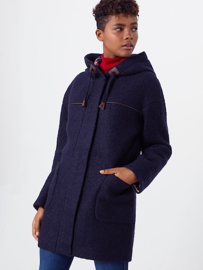 EDC BY ESPRIT Prehoden plašč 'Duffle Coat' | mornarska barva, Prikaz modela