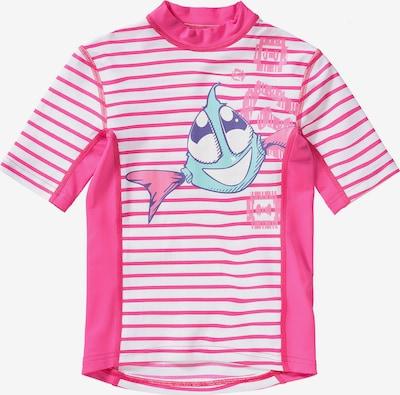 HYPHEN Schwimmshirt in pink / weiß, Produktansicht