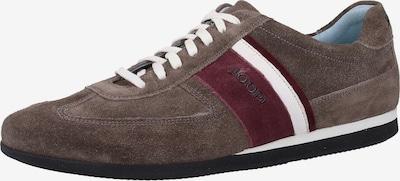 JOOP! Sneakers laag in de kleur Bruin / Kersrood / Wit, Productweergave
