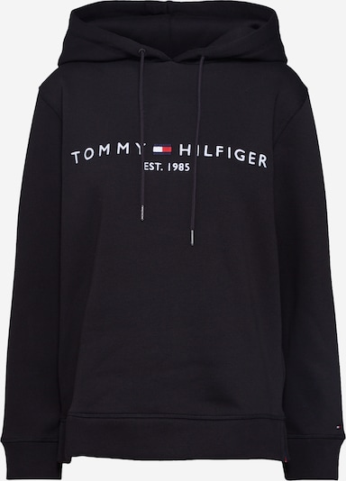 TOMMY HILFIGER Sweatshirt in de kleur Zwart / Wit, Productweergave