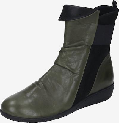 MANITU Stiefelette in dunkelgrün / schwarz, Produktansicht