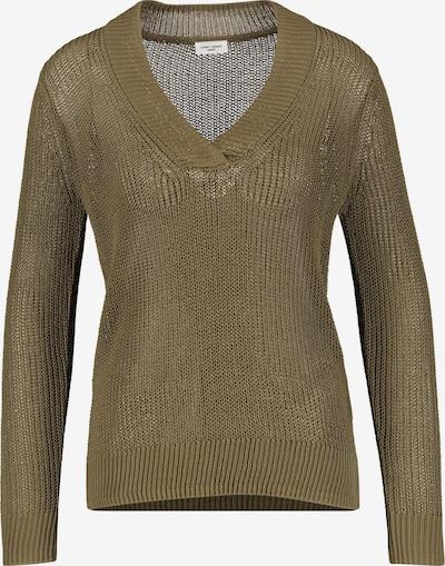 GERRY WEBER Pullover Langarm Rundhals Pullover mit Strukturstrick in braun, Produktansicht
