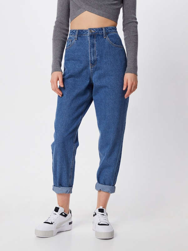 Missguided Jeans 'RIOT' in blue denim, Modelansicht