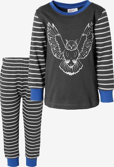 People Wear Organic Schlafanzug in blau / grau / weiß, Produktansicht
