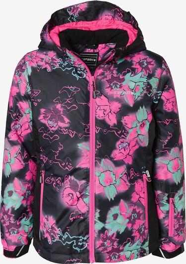 ICEPEAK Skijacke 'Lille' in aqua / pink / schwarz, Produktansicht