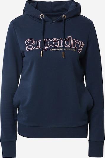 Superdry Sweat-shirt en bleu marine / rose, Vue avec produit