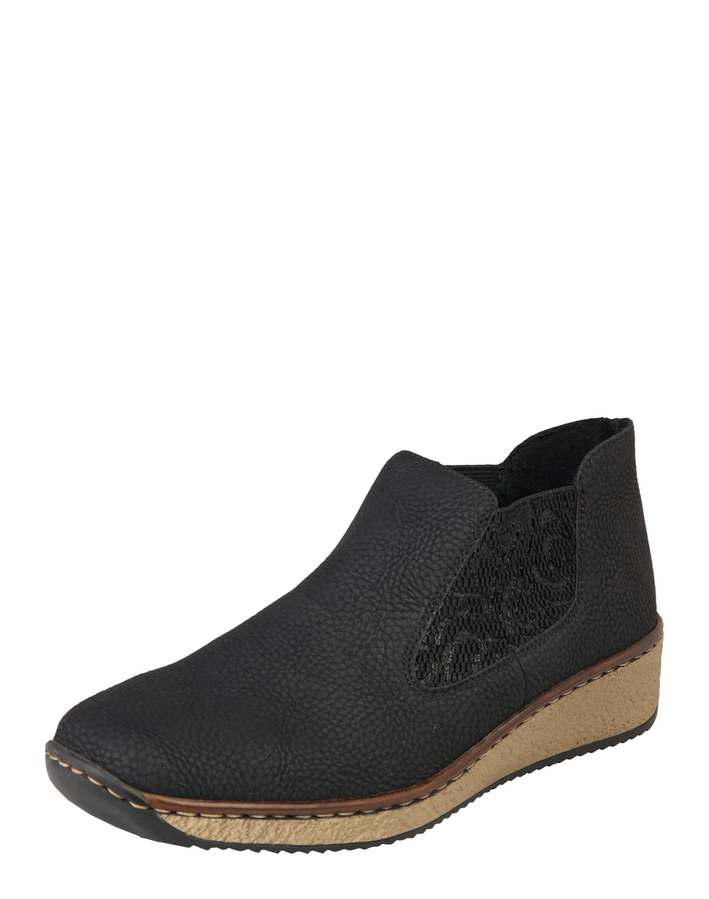 RIEKER Slipper mit Plateausohle Verschleißfeste billige Schuhe