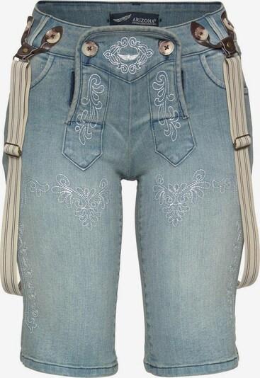 ARIZONA Jeansbermudas im 'Bavaria Look' in blue denim, Produktansicht