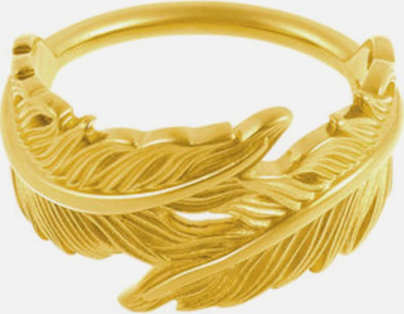 ID Fine Ring 'Feder' in gold, Produktansicht