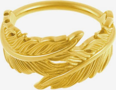 ID Fine Ring 'Feder' in gold: Frontalansicht