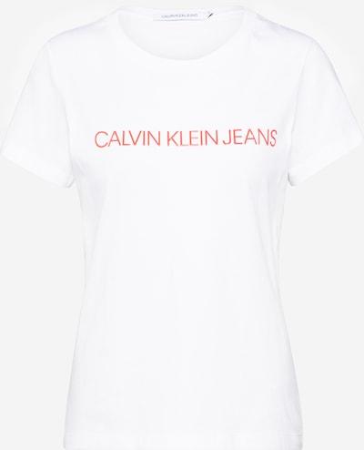 Calvin Klein Shirt 'INSTITUTIONAL LOGO SLIM FIT TEE' in rot / weiß, Produktansicht