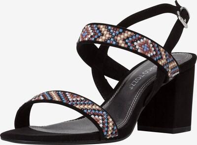 MARCO TOZZI Sandalette in mischfarben / schwarz: Frontalansicht