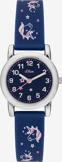 s.Oliver Uhr in dunkelblau / pastellpink / silber, Produktansicht