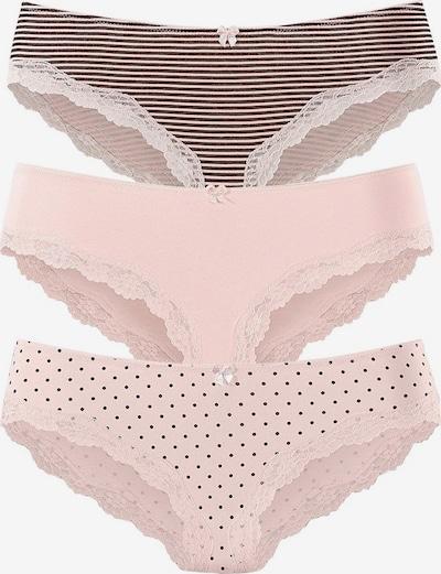 LASCANA Slip in grau / rosa: Frontalansicht