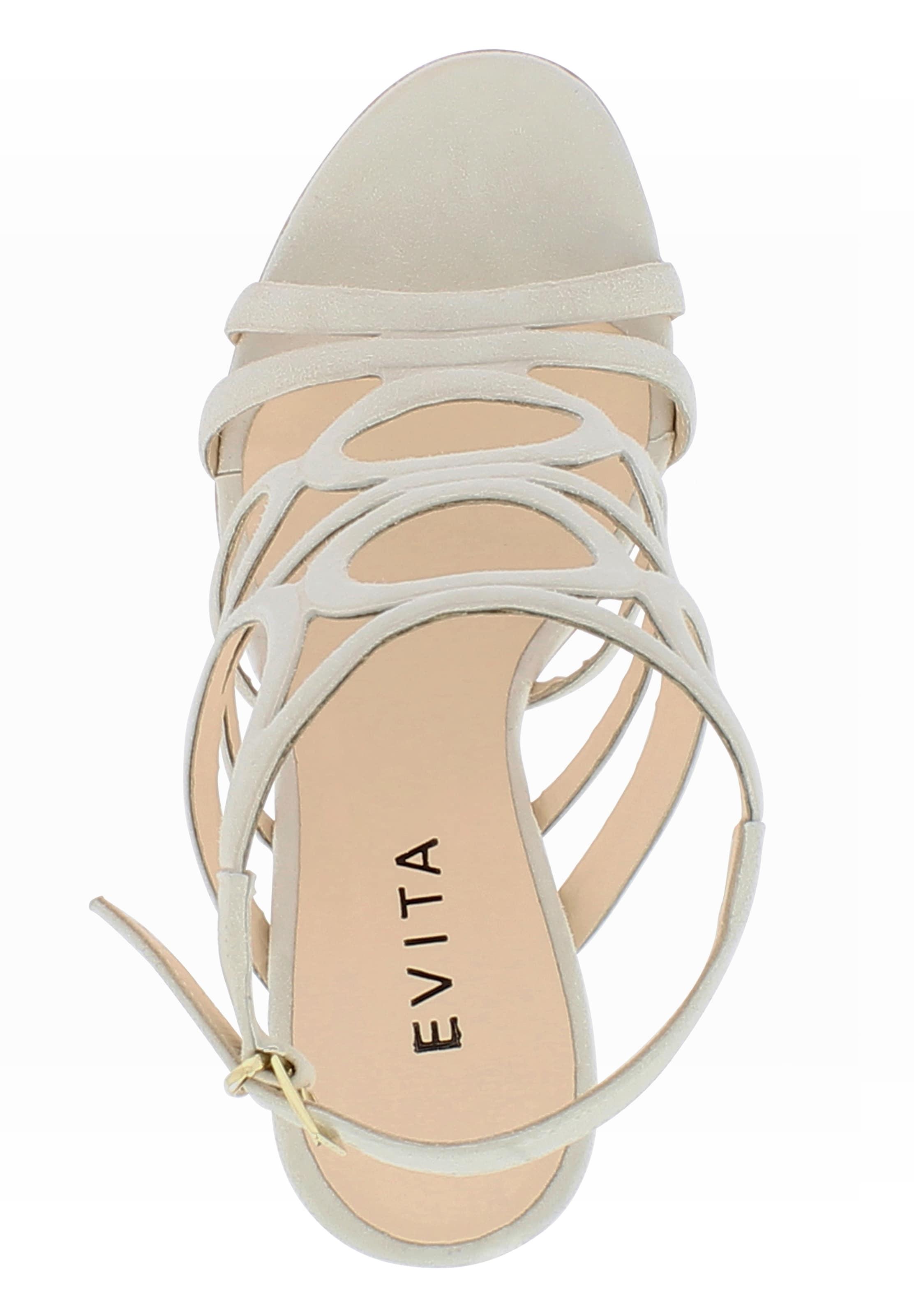 Sandales En Beige À Evita Lanières wnPO0k8