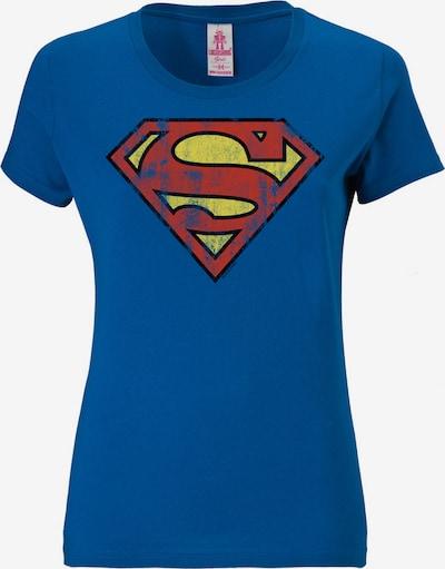 LOGOSHIRT T-Shirt 'Superman' in blau / gelb / rot, Produktansicht