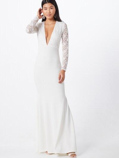 Missguided Kleid 'BRIDAL' in sand / weiß, Modelansicht