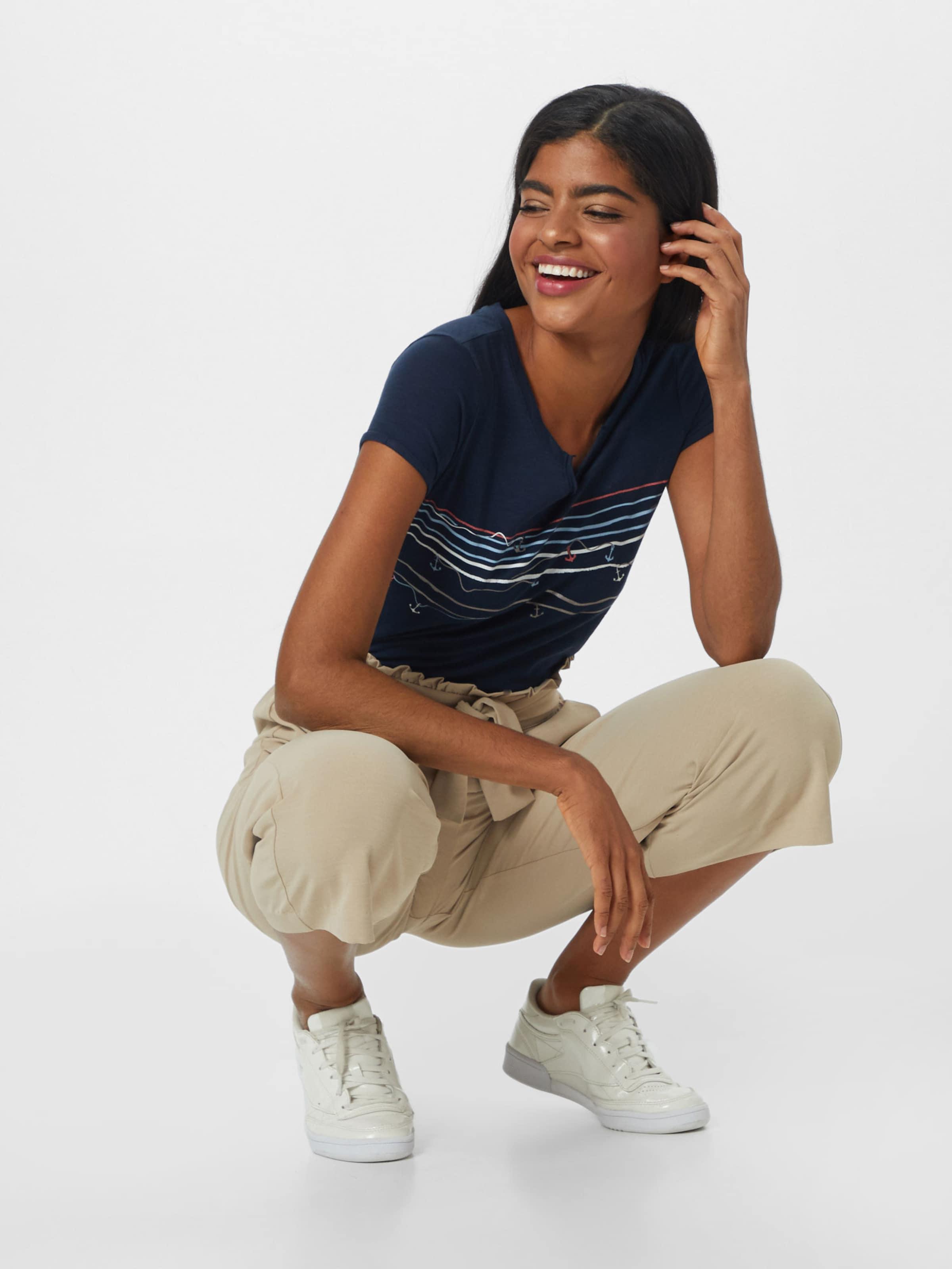 Esprit shirt Argent Bleu MarineClair T Print 'aw Blanc En Saumon Tee' 5A43jLqR