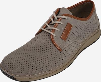 Batai su raišteliais iš RIEKER , spalva - karamelės / margai pilka, Prekių apžvalga