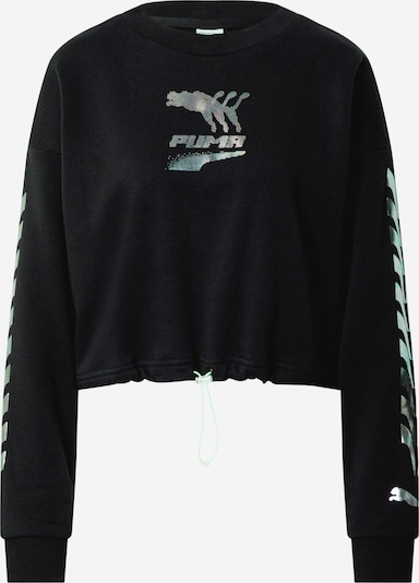 PUMA Sweatshirt 'Evide' in schwarz / silber, Produktansicht