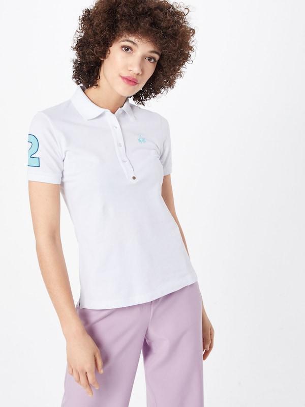 En Martina Stretch' shirt 'woman Blanc Polo La T Piquet qMGVSUzp