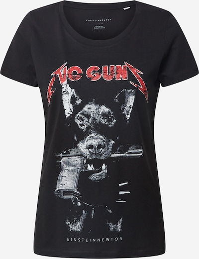 EINSTEIN & NEWTON Shirt 'No Guns' in rot / schwarz / weiß, Produktansicht