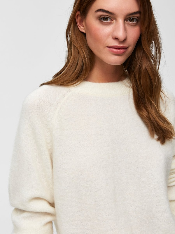 SELECTED SELECTED SELECTED FEMME Strickpullover in wollweiß  Mode neue Kleidung fa18d2