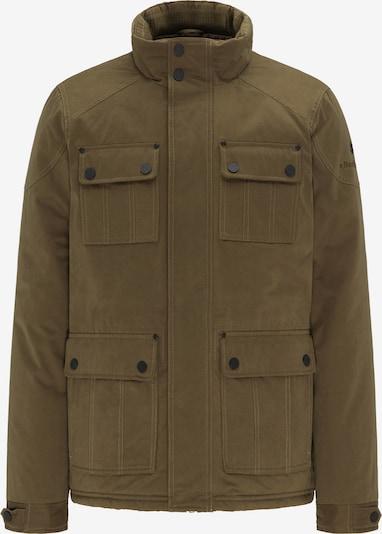 DREIMASTER Winterjas in de kleur Olijfgroen: Vooraanzicht