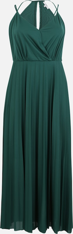 ABOUT YOU Curvy Kleid 'Falda' in petrol: Frontalansicht