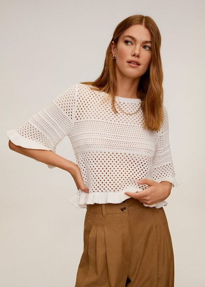 MANGO Pullover 'Pale' in nude: Frontalansicht