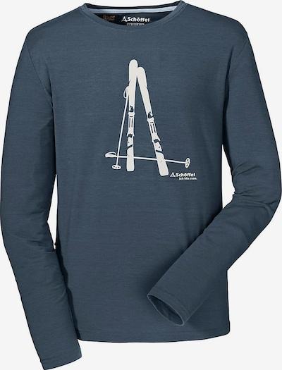 Schöffel Shirt in taubenblau / weiß, Produktansicht