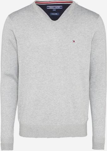 TOMMY HILFIGER Pullover 'Silk' in Grau