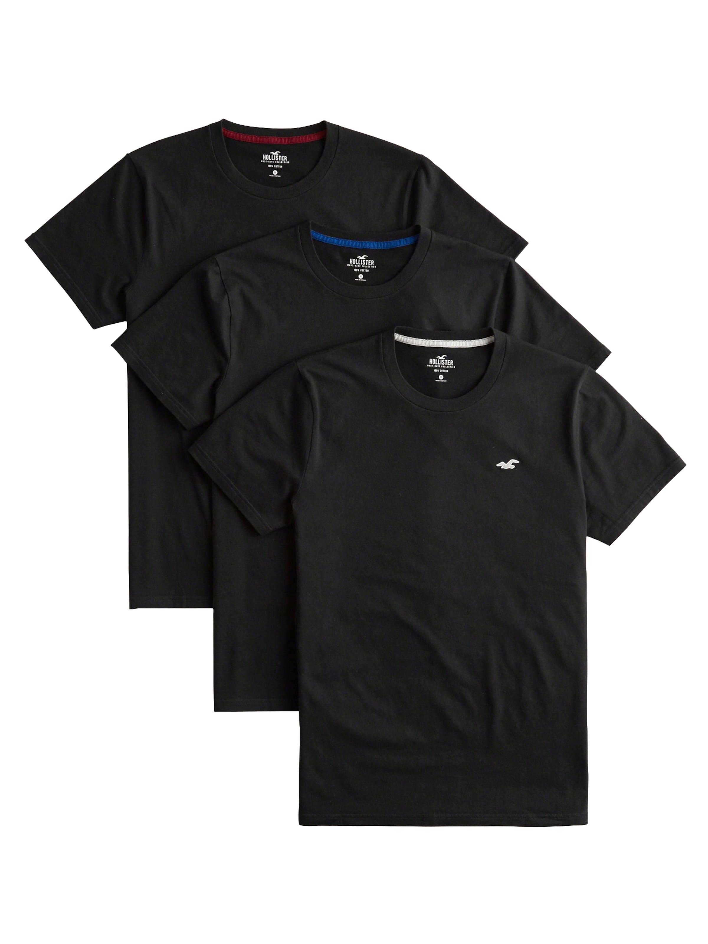 Multipack' T Black shirt En Crew 'dtc Noir Hollister roCWdBex