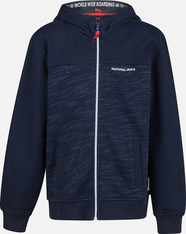 WE Fashion Sweatjacke in navy / weiß, Produktansicht