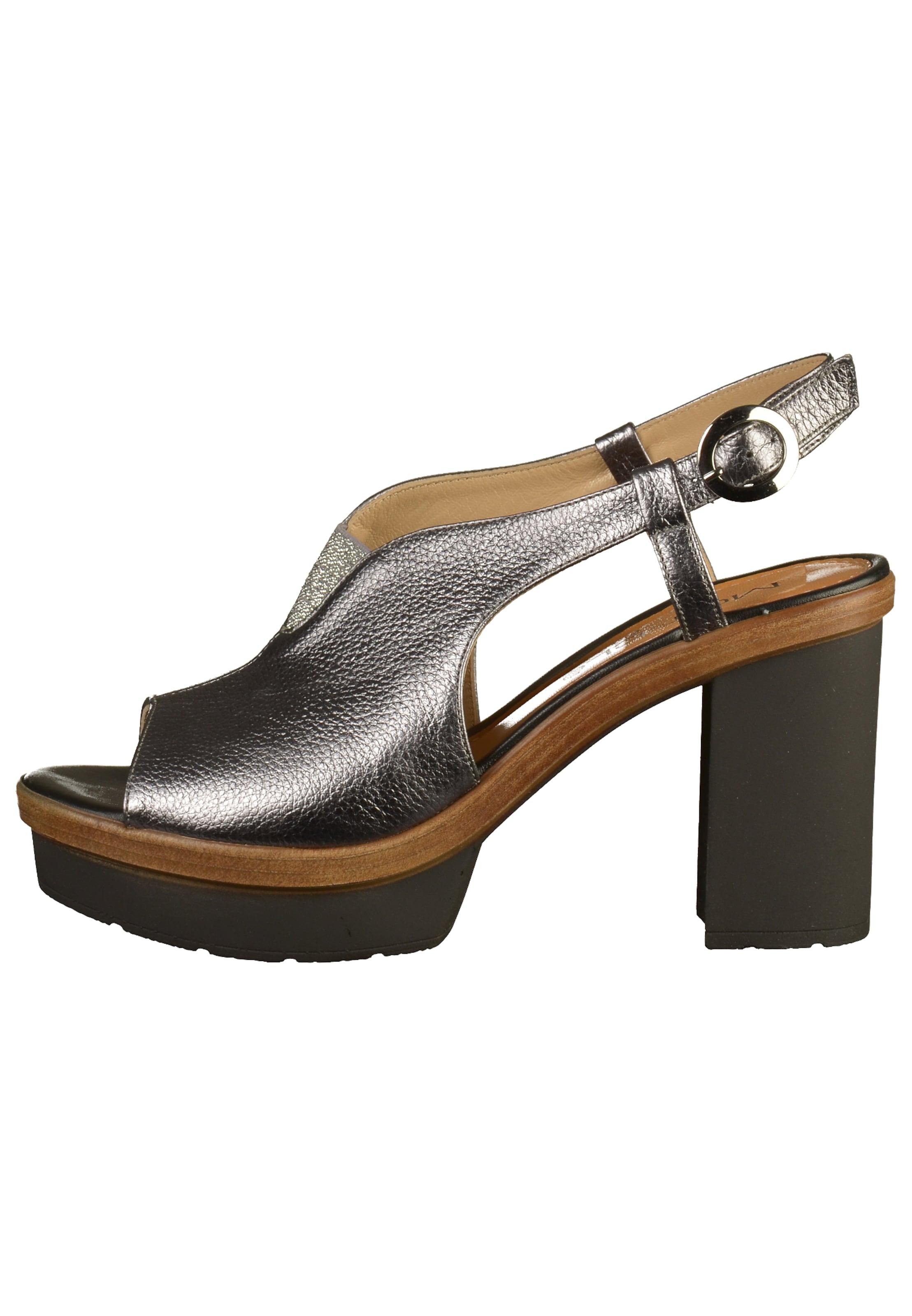 BraunSchwarz Sandalette Mot clè In Silber 5jRc3LqS4A