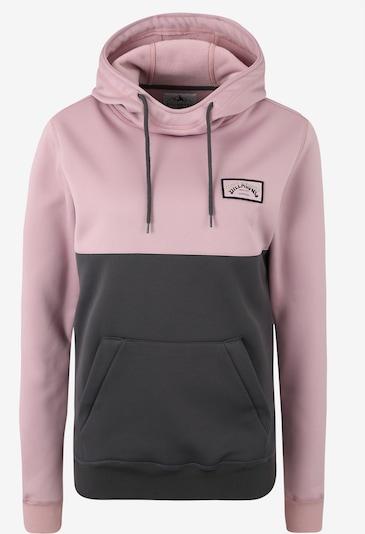 BILLABONG Sweat de sport 'outside fever block' en gris foncé / rose, Vue avec produit