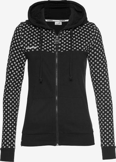 KangaROOS Sweatjacke in schwarz / silber, Produktansicht